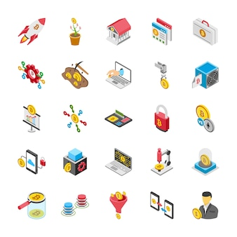 Pacote de ícones de criptomoeda