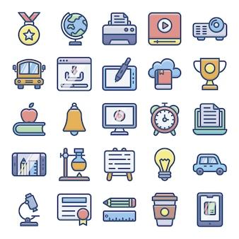 Pacote de ícones de e-learning
