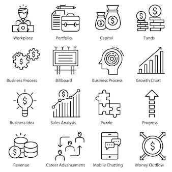 Pacote de ícones de empreendedor