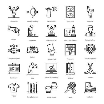 Pacote de ícones de esportes