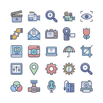 Pacote de ícones de fotografia digital