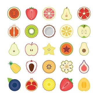 Pacote de ícones de frutas