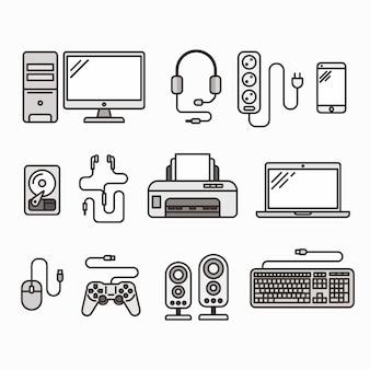 Pacote de ícones de gadgets