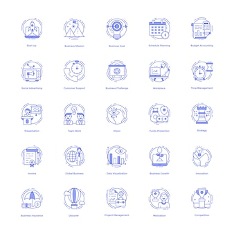 Pacote de ícones de gerenciamento de negócios