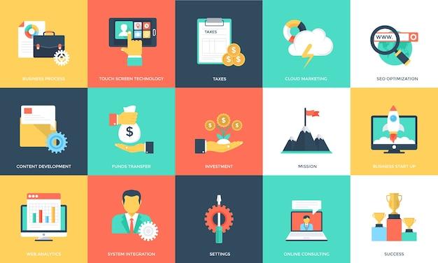 Pacote de ícones de gerenciamento de projetos