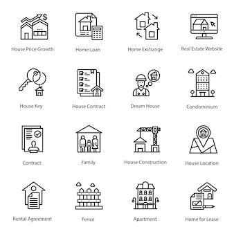 Pacote de ícones de hipoteca de casa