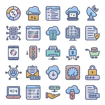 Pacote de ícones de hospedagem de servidores