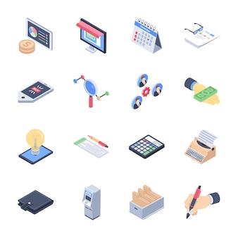 Pacote de ícones de lançamento de negócios