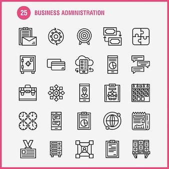 Pacote de ícones de linha de negócios: jogos, quebra-cabeça, negócios, negócios, engrenagem, engrenagem, otimização, mobile