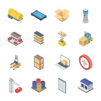 Pacote de ícones de logística