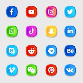 Pacote de ícones de mídia social
