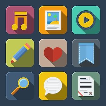 Pacote de ícones de mídia