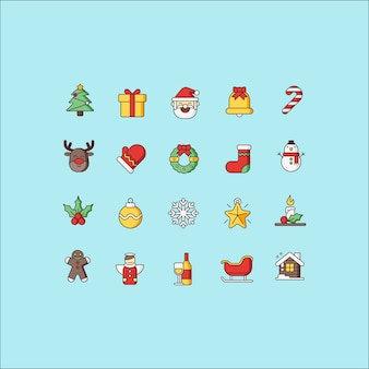 Pacote de ícones de natal