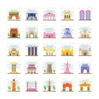Pacote de ícones de pontos de referência