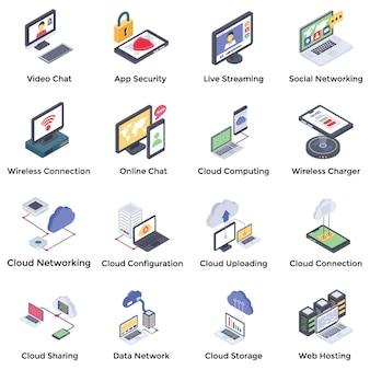Pacote de ícones de rede