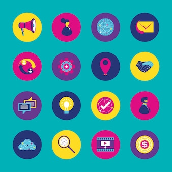 Pacote de ícones de redes sociais