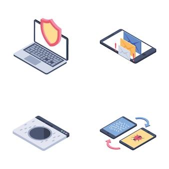 Pacote de ícones de segurança na internet