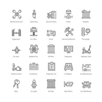 Pacote de ícones de serviço de carro