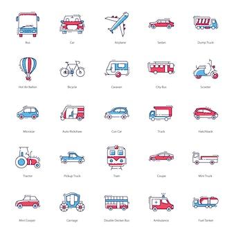 Pacote de ícones de transporte
