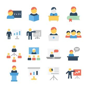Pacote de ícones de treinamento educacional