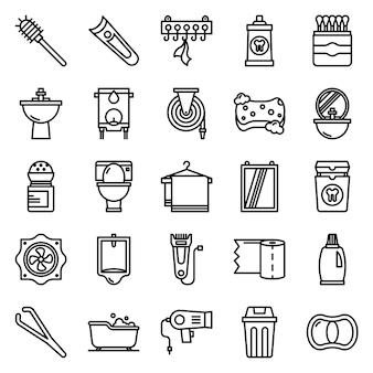 Pacote de ícones do banheiro