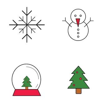 Pacote de ícones do christmast