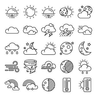 Pacote de ícones do tempo