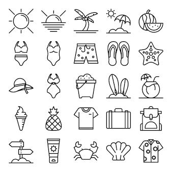 Pacote de ícones do verão