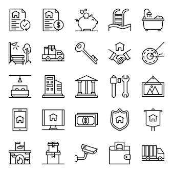 Pacote de ícones imobiliários