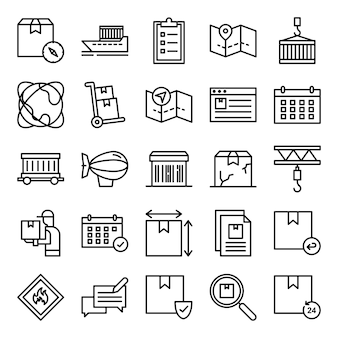 Pacote de ícones logísticos