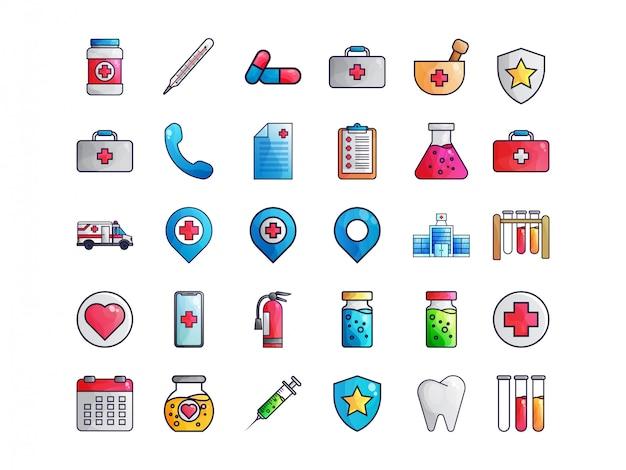 Pacote de ícones médicos