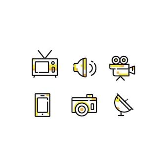 Pacote de ícones multimídia