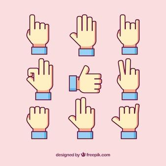 Pacote de ícones para linguagem de sinais