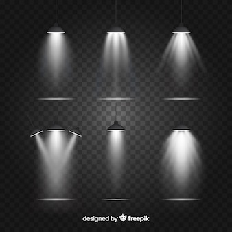 Pacote de iluminação de cena realista
