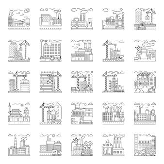 Pacote de ilustrações de fábrica