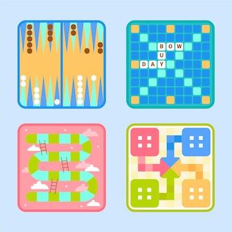 Pacote de ilustrações de jogos de tabuleiro