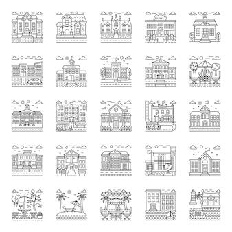 Pacote de ilustrações do instituto educacional