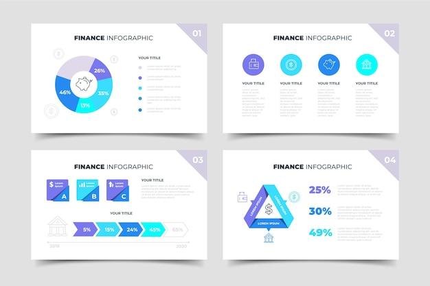 Pacote de infográfico de finanças