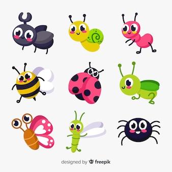 Pacote de insetos bonito