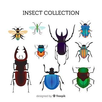 Pacote de insetos de mão desenhada