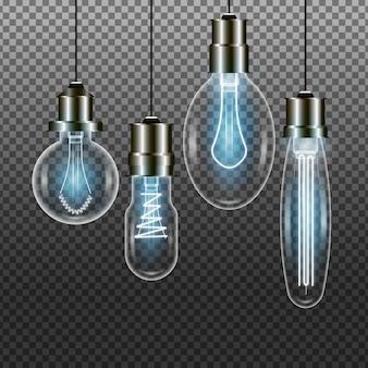 Pacote de lâmpadas realistas