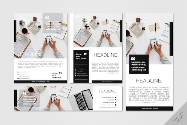 Pacote de layout corporativo minimalista