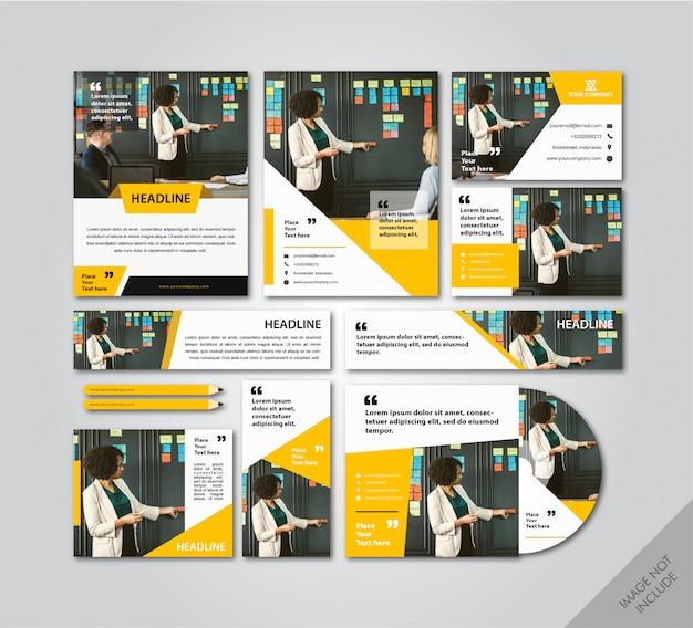 Pacote de layout de identidade de marca