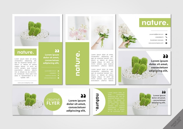 Pacote de layout de natureza verde