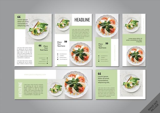 Pacote de layout de tema de comida