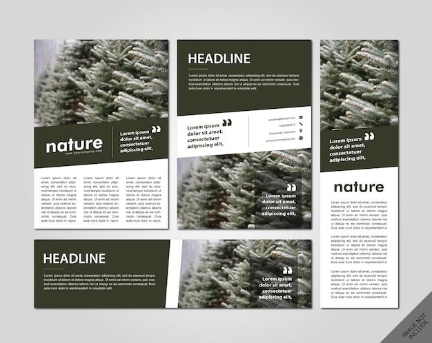 Pacote de layout minimalista