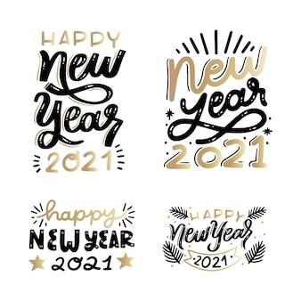 Pacote de letras de ano novo 2021