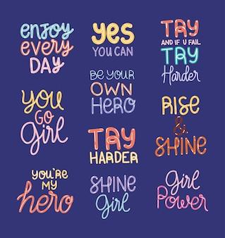 Pacote de letras de motivação