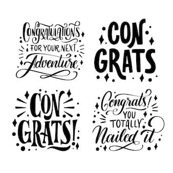 Pacote de letras de parabéns