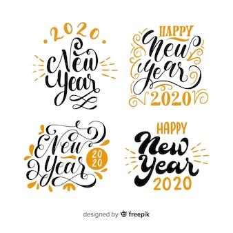 Pacote de letras do ano novo 2020